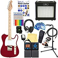 エレキギター 初心者セット テレキャスタータイプ 18点セット Legend LTE-Z CA/M 【ZOOM G1on マルチエフェクター付】
