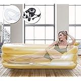 Inflatable Bathtub Adult Portable Freestanding Bathtub Swimming Pool Sauna Foldable Hot Tub Spa Shower with Electirc Air Pump