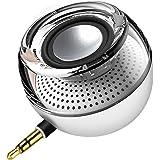 E-More ミニポータブルスピーカー PCスピーカー USB充電 スピーカー サブウーファー デスクトップ/ラップトップ /タブレットPC /スマートフォン (white)