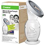 Haakaa Manual Breast Pump with Suction Base Milk Saver 100% Food Grade Silicone BPA PVC and Phthalate Free (5oz/150ml+Lid)