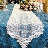 テーブルランナー レース,エレガント 白 結婚式やパーティーのために 欧風 パーティー ホームデコレーション (Size : 30*70cm)