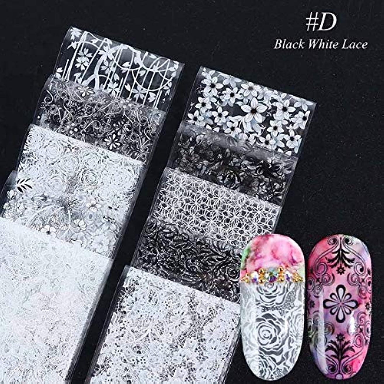 即席追記電気SUKTI&XIAO ネイルステッカー マニキュアネイルアートデカール装飾のための10個のカラフルな花のステッカーネイル箔転写星空夏のスライダー