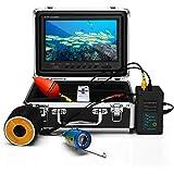 Eyoyo 9 Inch Underwater Fishing Camera Video Fish Finder HD 1000 TVL LCD Monitor Waterproof Camera Adjustable Infrared & Whit