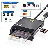 『2020 接触型ICカードリーダーライタ ICチップのついた住民基本台帳カード 電子申告(e-Tax) 自宅で確定申告 USB接続 マイナンバーカード、住基カードに対応、CAC/SD/Micro SD (TF)/SIMスマートカードリーダーにも対応