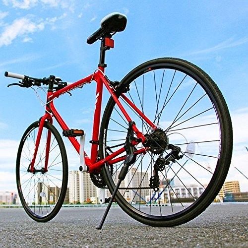 クロスバイク 700c(約28インチ)/レッド(赤) シマノ21段変速 アルミフレーム 軽量 重さ11.2kg 【VENUS】 ビーナス CAC-021【代引不可】 生活用品 インテリア 雑貨 自転車(シティーサイクル) クロスバイク top1-ds-1634426-ah [簡素パッケージ品]