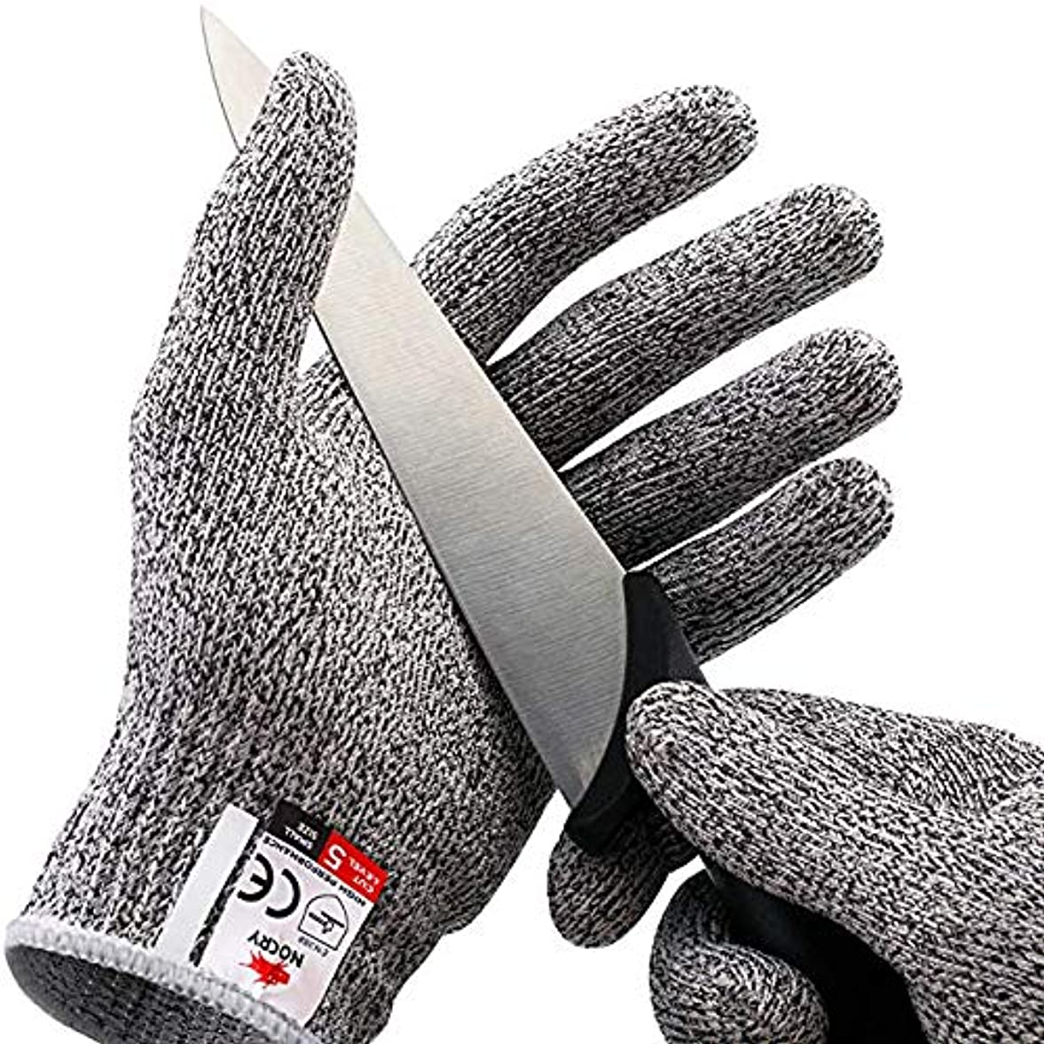 一生皮肉物理食品グレード、高パフォーマンスレベル5の保護 - 耐性の手袋をカット。,L