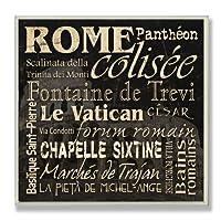 Stupell Home Décor Rome Landmarks 正方形壁飾り板 12 x 0.5 x 12 米国製