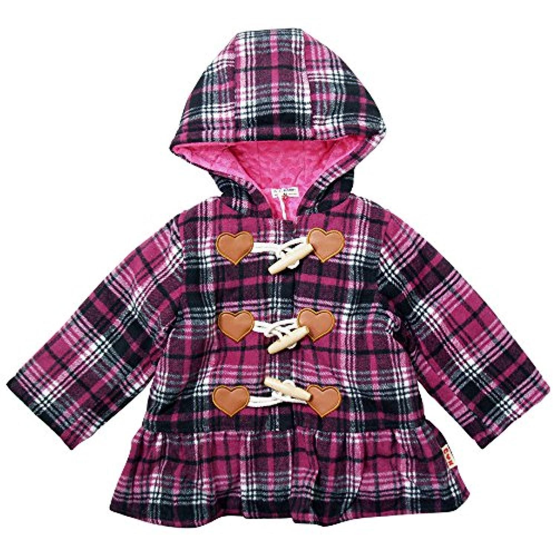 《秋冬春対応》 CHILD CHAMP(チャイルド チャンプ) チェックの中綿入りダッフルコート 130cm/PP NO.C-271050