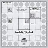 Creative Grids Log Cabin Trim Tool for 20cm Finished Blocks Quilt Ruler (CGRJAW1)