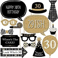 Adult 30th Birthday - Photo Booth Props Kit - 20 Count