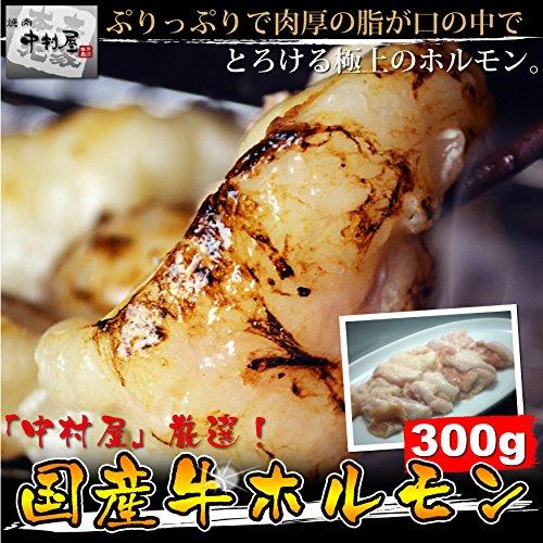 焼肉中村屋 ぷりっぷりで肉厚の脂が口の中でとろける国産牛ホルモン300g(小腸 焼肉 もつ鍋 バーベキュー)