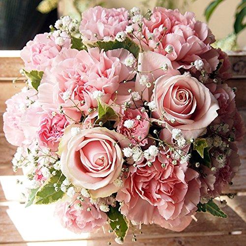 高岡大仏前花金(PINK) ピンクいっぱい可愛いアレンジメント(サイズ奥行:21cm×幅:約21cm×高さ:約21cm)ピンクバラ・カーネーション母の日 父の日 お誕生日アレンジメント 花束 メッセージカードOK
