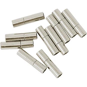 713b9618ee Homyl 10個入り 3ミリメートル DIY ジュエリー クラスプ マグネット 磁気 全2色 - 銀