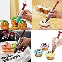 シリコンケーキペンDIY Pastry Cookie Decoratingクリーム注射器ペンBakingツールDuk