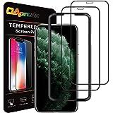 2枚セット OAproda iPhone 11 Pro/Xs/X ガラスフィルム 全面 保護 フィルム ガイド枠付き…