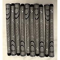 10 SuperStroke Cross快適Midsizeゴルフグリップ – グレー/ブラック – 18847