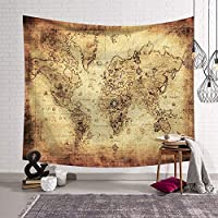 LYgMV 北欧世界地図シリーズレジャータペストリー装飾タペストリーリビングルームの寝室の装飾壁の装飾多機能ホーム150 * 130 Cm (Style : 6)