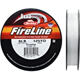 Fireline Braided Beading Thread 8 LB Test and .009 Thick 125 Yards Crystal Clear