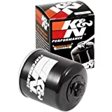 K&N KN-303 Motorcycle/Powersports High Performance Oil Filter,Black