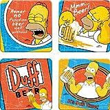 The Simpsons(シンプソンズ) 4pcコースターセット Vandor7697【ホーマー Homer グッズ バー 雑貨 輸入 インポート】