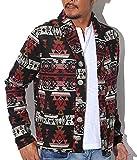 【ネイティブ柄ウールショールカラーコート】BITTER コート メンズ ジャケット 西海岸 ブラックL