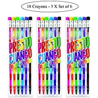 Ooly Presto Chango Crayons - Set of 18 (3 Packs of 6) [並行輸入品]