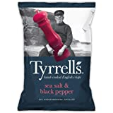 Tyrrell's Sea Salt and Cracked Black Pepper Potato Chips, Sea Salted, 150g