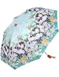 レディース 傘 おしゃれな 名画シリーズ 49cm 折りたたみ傘 ゴッホ ホワイトフラワー