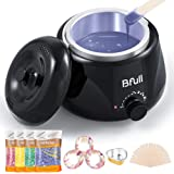 2020 Upgraded BFull Mini Wax Warmer, Instant Hair Removal Kit with 4 Pack Wax Beans, 20 Applicators, 10 Clean Collars, 3 Wax