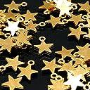 UNATA. チャーム 【星 スター 75個/150個】 セット 宇宙 惑星 星型 ゴールド uv レジン ハンドメイド 材料 アクセサリー ネックレス ピアス パーツ にも (75個)