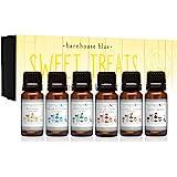 Sweet Treats Premium Grade Fragrance Oil - Gift Set 6/10ml Bottles - Banana Cream, Chocolate Mint, Blue Cotton Candy, Malibu