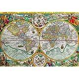 Nautilus Puzzles 木製ジグソーパズル 世界地図 1594-555 ユニークな木製ピース アメリカ製 パズル愛好家に挑む