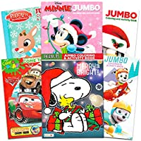 クリスマス塗り絵 スーパーセット 子供用 幼児用 クリスマスアクティビティブック 6冊 ゲーム パズル 迷路など