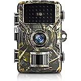 トレイルカメラ ,狩猟カメラ 防犯カメラフル 1080P フルHD 12MP 16MPに設定可能 IP66防水機能隠しカメラ 暗視カメラ 人感センサー 動き検知 防水設計 防犯カメラ トレイルカメラ 広角レンズ 不可視赤外線LEDライト搭載 暗視カメ