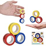 Magnetic Fidget Rings, Magnetic Rings Fidget Toy, Set of 3, Fidget Finger Toy, ADHD Fidget Toys for Anxiety Teens