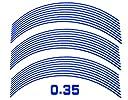 AUTOMAX izumi リム(17~19)青0.35cm▼直線ブルー反射 幅0.35cmリムステッカー17~19インチ対応
