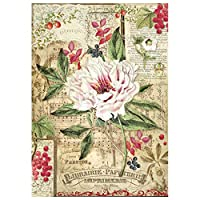 Stamperia Rice Paper Sheet A4-Peony With Red Berries
