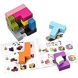 立体パズル 木製パズル テトリス パズル 型はめ 積み木 教育玩具 想像力 創造 GYBBER&MUMU 15ピース 3歳以上