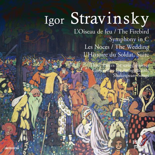 ストラヴィンスキー: バレエ音楽「火の鳥」(1910年版) 他 (Igor Stravinsky : L'Oiseau de feu, The Firebird, Symphony in C, Les Noces, The Wedding, L'Histoire du Soldat, Suite) [2SACD Hybrid] [輸入盤]