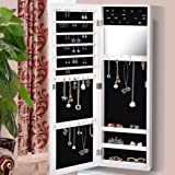 Levede Mirror Jewellery Cabinet Makeup Storage Jewelry Organiser Box Tall