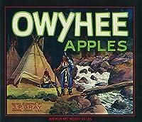 Owyhee–Native American–Appleクレートラベル 12 x 18 Art Print LANT-2121-12x18