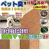 【窓美人 消臭マット】日本社会福祉愛犬協会推奨!気になるいや~な臭いをすぐに分解&消臭!!ペットや生ごみ、トイレの臭いに! 88×180cm 1枚 ナチュラル