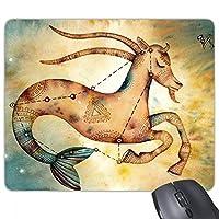 1月の山羊座星座の十二宮 長方形のノンスリップゴムパッドのゲームマウスパッドプレゼント
