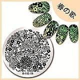 Amazon.co.jp【花テーマ】 綺麗な花*葉パターンイメージプレートスタンピングプレートネイルアート 春の歌-06