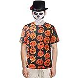 SSLR Men's Funny Crewneck Tee Casual Short Sleeve Halloween T-Shirt