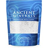 Ancient Minerals Magnesium Bath Flakes of Pure Genuine Zechstein Chloride - Resealable Magnesium Supplement Bag That Will Out