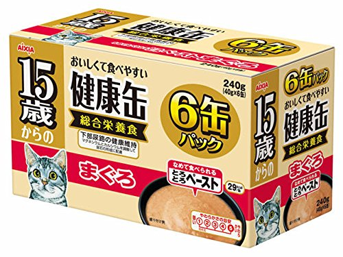 健康缶 15歳からの健康缶6P とろとろペースト まぐろ 40g×6缶