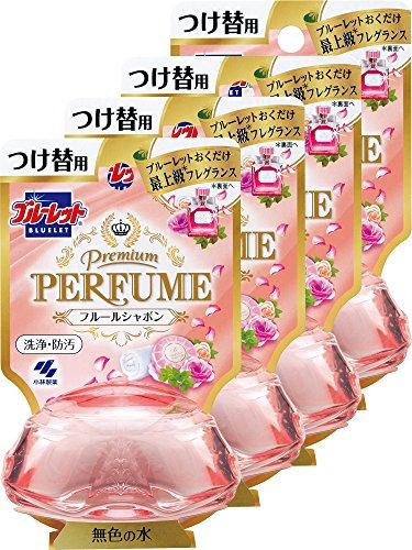 ブルーレット プレミアムパフューム トイレタンク芳香洗浄剤 つけ替え用 フルールシャボン 70ml×4個