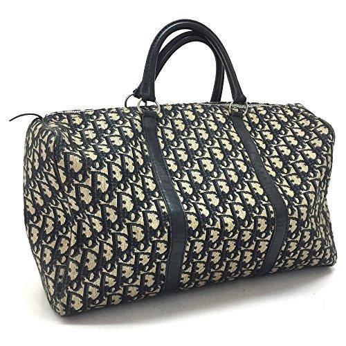 (ディオール) Dior トロッター トートバッグ ミニボストンバッグ ハンドバッグ キャンバス×レザー/レディース 中古