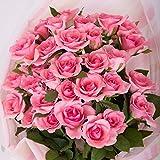 バラギフト専門店のマミーローズ 選べるバラ本数セレクト 還暦祝い 誕生日 プロポーズ 贈り物の豪華なバラの花束(生花) ピンク 25本